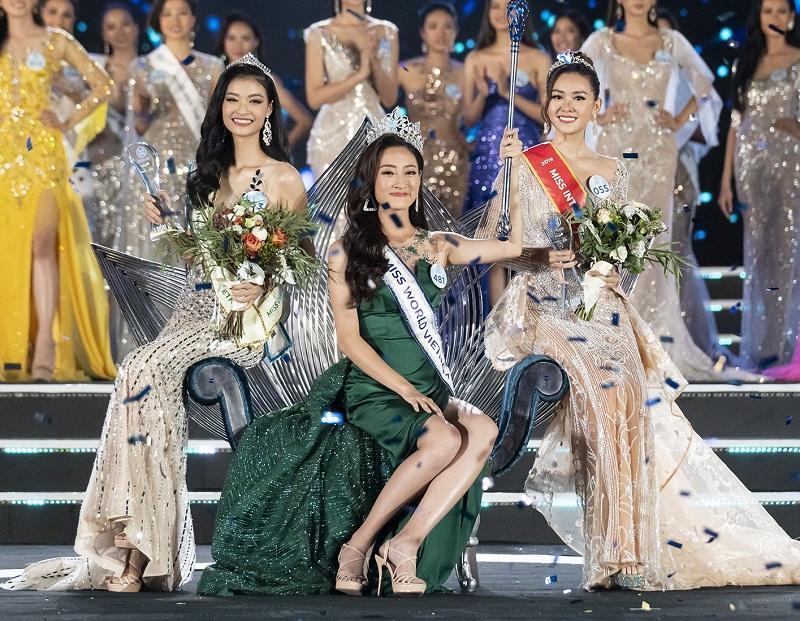 Nhan sắc Đại học Ngoại thương Lương Thùy Linh chính thức đăng quang Miss World Vietnam 2019-5