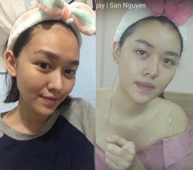 Đọ mặt mộc của Hoa hậu Lương Thùy Linh và Á hậu Tường San, Kiều Loan-7