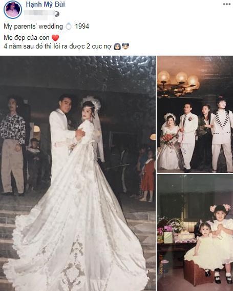 Khoe ảnh cưới thời bố mẹ em, cô gái Hải Phòng khiến dân tình trầm trồ với độ chịu chơi của đấng sinh thành-1