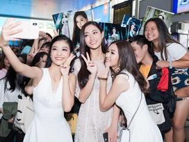 Tân Hoa hậu Thế giới Việt Nam 2019 Lương Thùy Linh gây náo loạn sân bay ngay khi vừa đáp chuyến