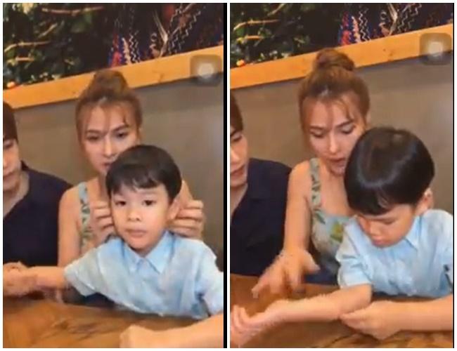 Giữa ồn ào cấu tay con riêng của Thu Thủy, chồng trẻ tiếp tục bị lộ clip quát mắng khiến bé Henry khóc lóc sợ hãi-2