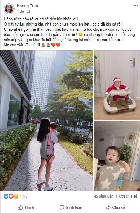 Chuyển nơi ở mới sau khi Việt Anh tuyên bố bán nhà, Hương Trần ngậm ngùi: Mẹ con Đậu đi nhé-2