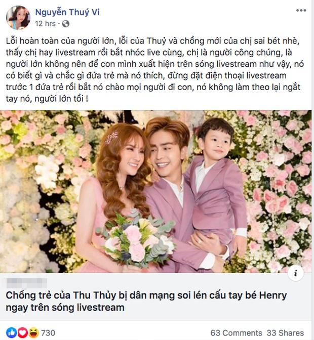 Giữa nghi vấn con trai Thu Thủy bị bố dượng cấu véo, gái chưa chồng như Thúy Vi cũng phải thốt lên: Người lớn quá tồi-2