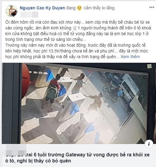 Sao Việt quặn thắt ruột gan trước câu chuyện bé trai 6 tuổi tử vong vì bị trường Gateway bỏ quên trên xe bus-5