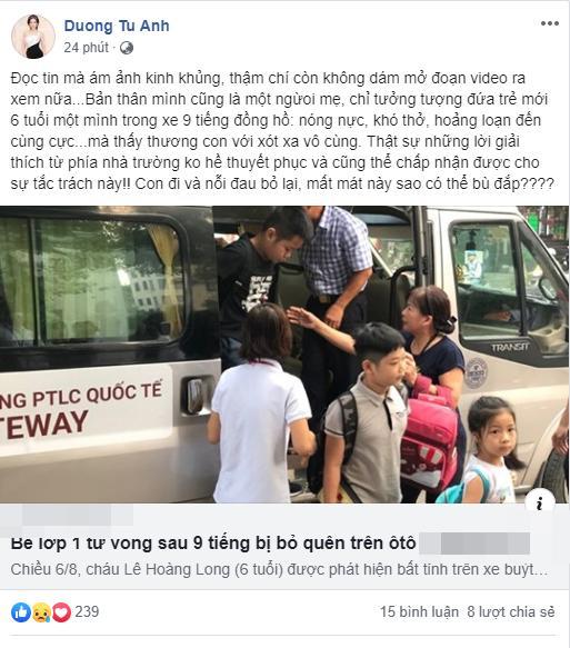 Sao Việt quặn thắt ruột gan trước câu chuyện bé trai 6 tuổi tử vong vì bị trường Gateway bỏ quên trên xe bus-3