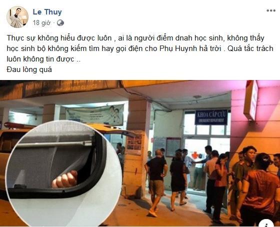 Lê Thúy công khai mắng Lưu Thiên Hương khi thấy đàn chị trách móc bố mẹ bé trai 6 tuổi tử vong vì bị quên trên xe bus-7