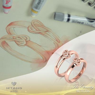 Nhẫn cưới platin đính kim cương hút các cặp đôi-1