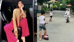 Hồ Ngọc Hà phi 'siêu xe' xuống phố vui chơi cùng Subeo ngày cuối tuần