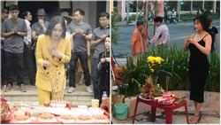 Phi Thanh Vân mặc đầm hở ngực, Mai Phương Thúy diện vest không nội y thắp hương tổ nghề lại được bênh thay vì chỉ trích thiếu tôn nghiêm