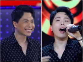 Trịnh Thăng Bình đắc tội gì với ê kíp 'Giọng ải giọng ai' mà đang chuẩn men lại bị trang điểm như chú vẹt hát tuồng?