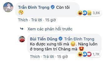 Bùi Tiến Dũng đăng ảnh tình cảm với vợ, Đình Trọng hỏi Còn tôi?-2