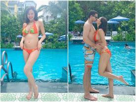 MC Phương Mai mang bầu 6 tháng vẫn mặc bikini khoe dáng đẹp hút mắt
