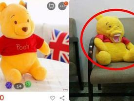 Đặt gấu bông trên mạng, khách hàng nhận được chú gấu khiến ai nấy hết hồn