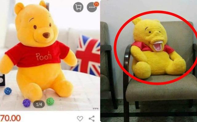 Đặt gấu bông trên mạng, khách hàng nhận được chú gấu khiến ai nấy hết hồn-1