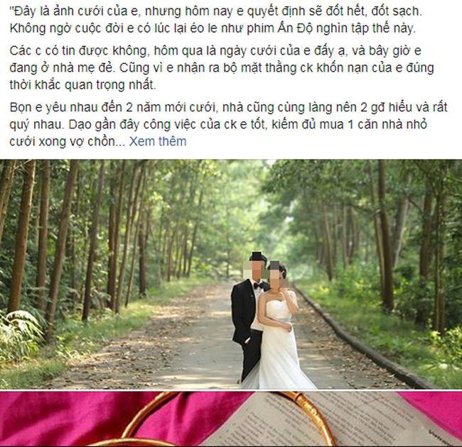 Khó tin: Đúng ngày cưới phát hiện chồng cặp bồ già, cô dâu mang cả thùng tiền mừng trả bố mẹ chồng, trút váy cưới bỏ đi-1