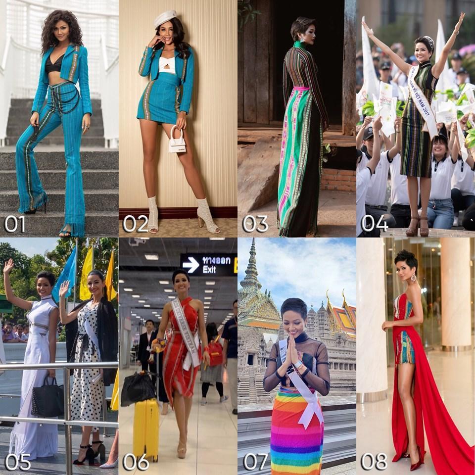 Kể từ khi đăng quang hoa hậu, HHen Niê chỉ thực sự tỏa sáng khi diện loạt trang phục thổ cẩm dân tộc Ê-Đê-10