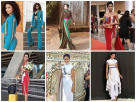 Kể từ khi đăng quang hoa hậu, H'Hen Niê chỉ thực sự tỏa sáng khi diện loạt trang phục thổ cẩm dân tộc Ê-Đê