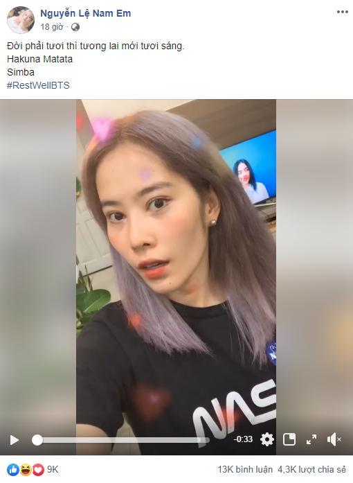 Fan BTS sợ hết hồn khi Nam Em đột nhiên mê mệt các oppa, bắt chước Jungkook cover Bad Guy giật long tóc-2