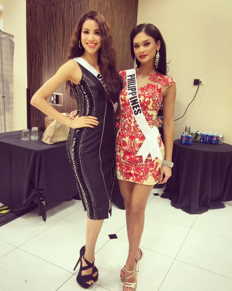 Bản tin Hoa hậu Hoàn vũ 13/8: Thật đáng tiếc khi Phạm Hương không còn ở Việt Nam để chặt Pia-2