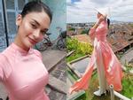 Hoa hậu Hoàn vũ bất ngờ diện áo dài nền nã, khoe nhan sắc xinh đẹp giữa phố cổ Hội An