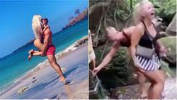 Người mẫu nổi tiếng bị chỉ trích dữ dội vì lấy nước suối thiêng rửa... vòng 3