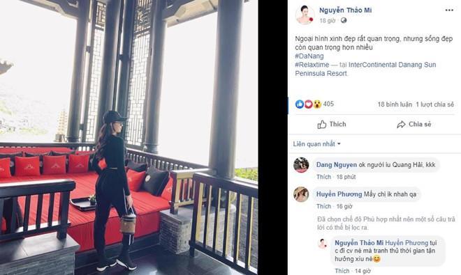 Bạn gái tin đồn Quang Hải check-in cùng nơi nam tiền vệ đang thi đấu-1