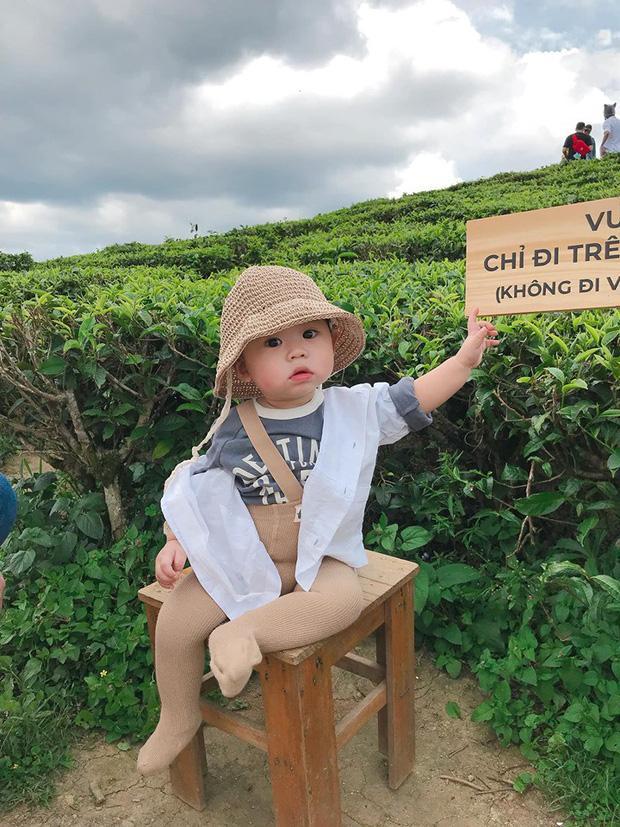 Bộ ảnh check in ở Đà Lạt không chỉ hot mà biểu cảm của em bé này lại càng khiến người khác thích thú-1