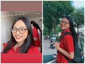 Phương Mỹ Chi tự tin khoe nụ cười hở lợi, trang điểm 'sương sương' trong ngày tựu trường