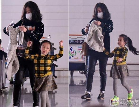 Triệu Vy xuất hiện công khai cùng con gái, gương mặt lộ rõ dấu hiệu tuổi tác-7