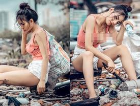 Đi nhặt ve chai nhưng phong cách thời trang phang hoàn cảnh của gái xinh Sài Gòn gây xôn xao mạng xã hội