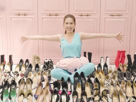 Ngọc Trinh khoe bộ sưu tập 300 đôi giày trị giá 5 tỷ, quý giá đến mức 'nữ hoàng nội y' phải đập cả hồ cá đi để xây tủ chứa