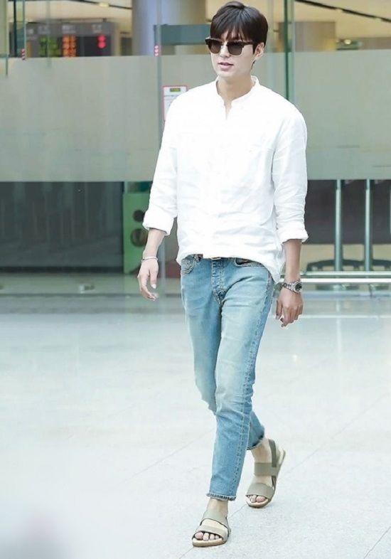 Hậu giảm cân, Lee Min Ho thả thính fan với áo sơ mi trắng đậm chất soái ca-8