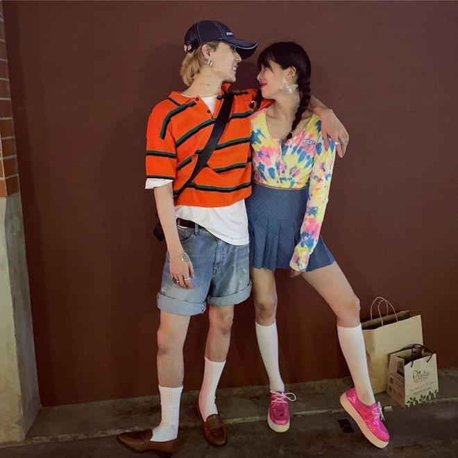 HyunA và người yêu chăm diện đồ đôi, có gu thời trang độc lạ-1