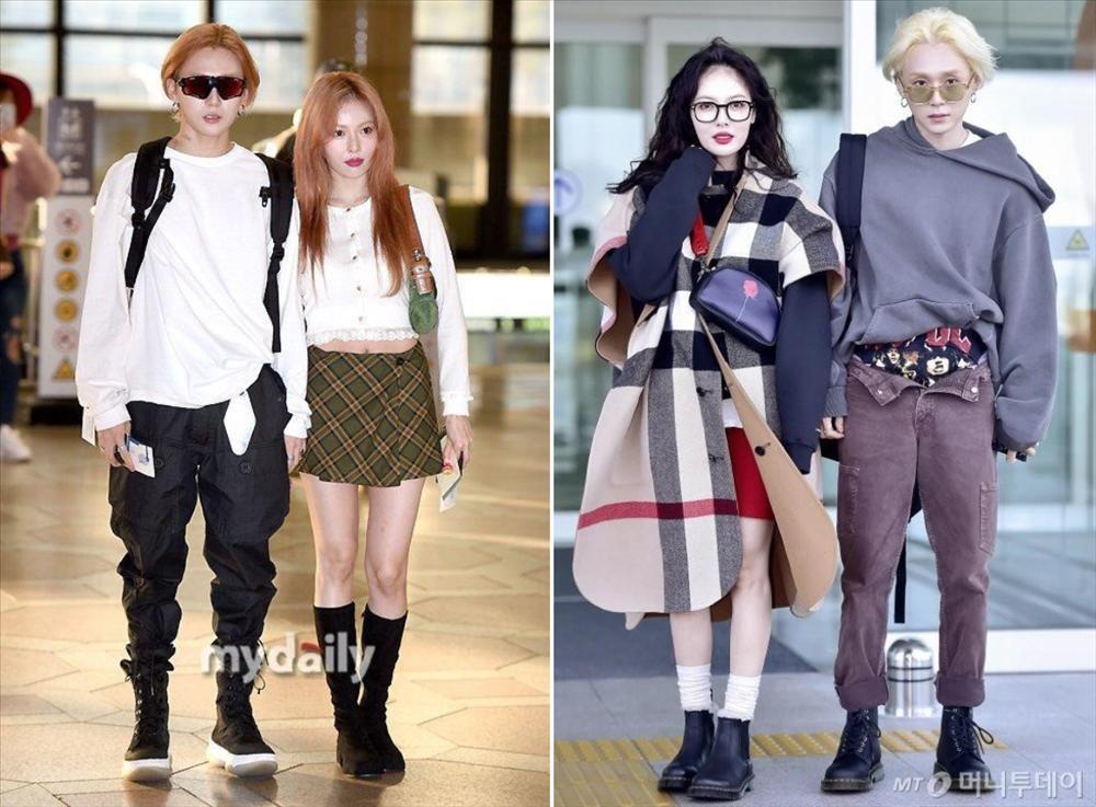 HyunA và người yêu chăm diện đồ đôi, có gu thời trang độc lạ-8