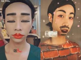 Make up 'sương sương' rong chơi tháng cô hồn, Hải Triều làm fans chạy mất dép khi diện kiến