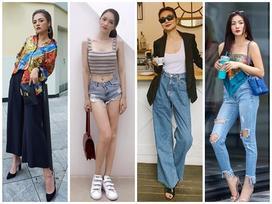 'Chị Huệ' Thu Quỳnh lên đồ sành điệu - Hương Giang phô thân hình mỏng như lá lúa với combo thời trang kiệm vải