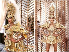 Hoàng Thùy lộ ảnh mặc trang phục dân tộc thi Miss Universe 2019 nhưng hình như có gì đó sai sai?