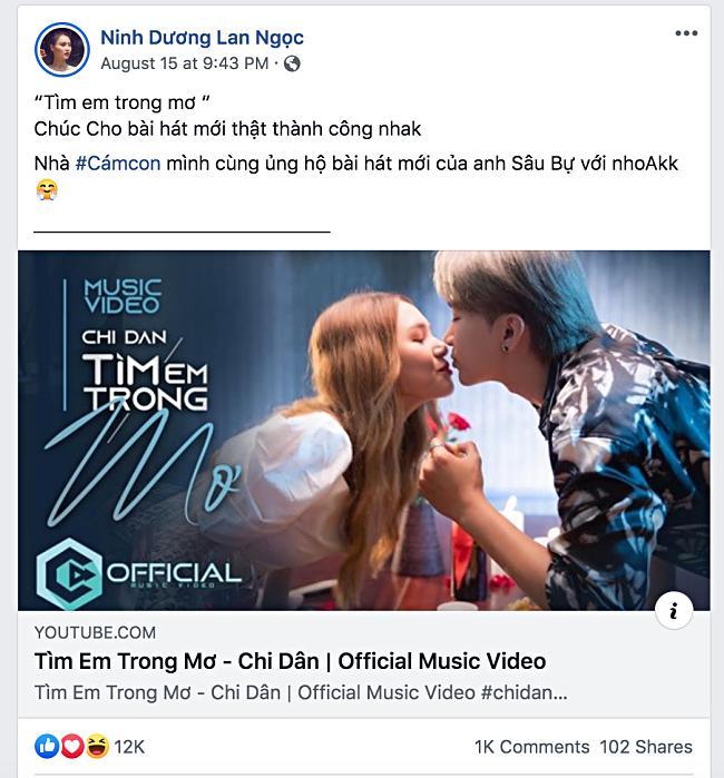 Lan Ngọc kêu gọi ủng hộ MV mới của Chi Dân, nhưng fan đồng loạt réo tên S.T Sơn Thạch-1