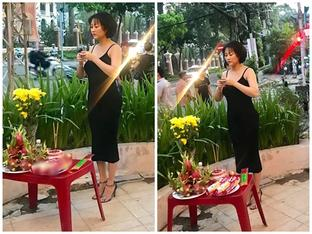 Phi Thanh Vân lần đầu lên tiếng vì bị chê mặc váy trễ khoe vòng 1 đi cúng Tổ nghề