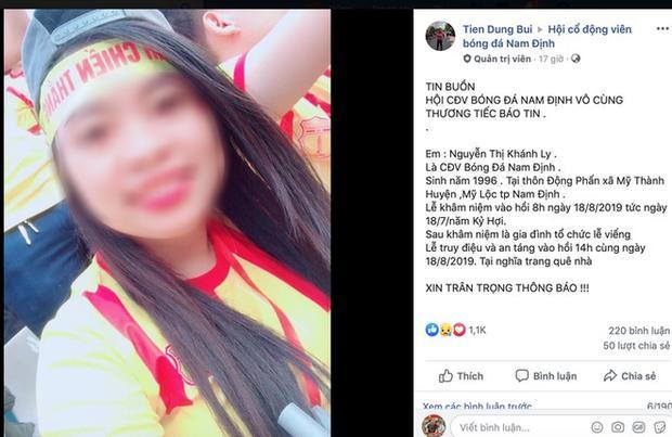 Nữ cổ động viên tử nạn trên đường đi cổ vũ CLB Nam Định-1