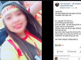 Nữ cổ động viên tử nạn trên đường đi cổ vũ CLB Nam Định