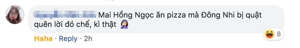Đông Nhi quên lời bài hát, fan đổ do ăn pizza siêu to khổng lồ-4