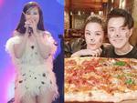 Đông Nhi quên lời bài hát, fan đổ do ăn pizza siêu to khổng lồ