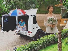 Vận chuyển cả siêu xe lên Đà Lạt phục vụ con gái chụp ảnh cưới nhưng caption mặn hơn muối của Minh Nhựa mới gây cười