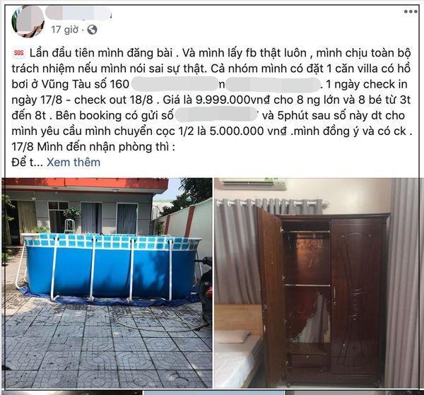 Cô gái quá bức xúc lên mạng tố cáo vì đặt villa 10 triệu lại nhận về căn phòng không bằng nhà nghỉ, tủ rách, đèn hỏng-1