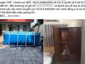 Cô gái quá bức xúc lên mạng tố cáo vì đặt villa 10 triệu lại nhận về căn phòng 'không bằng nhà nghỉ', tủ rách, đèn hỏng