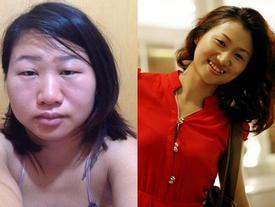 Cô gái khoe ảnh trước và trong khi mang bầu 'không giống một người'
