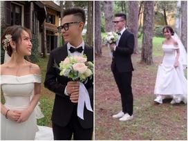 Con gái Minh Nhựa mặc váy cưới đuôi cá gợi cảm với sneaker, khoe hình xăm cực kỳ cá tính
