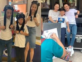 ẢNH HOT NHẤT NGÀY: Cường Đô La - Đàm Thu Trang - Subeo cùng nhau vẽ ảnh gia đình hạnh phúc