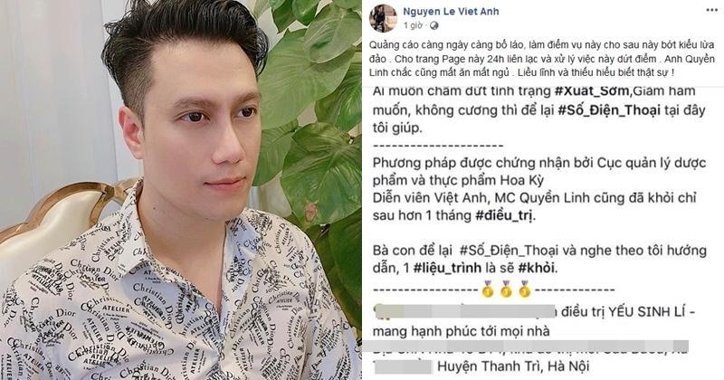 Việt Anh bàng hoàng khi biết mình trở thành gương mặt đại diện thuốc chữa yếu sinh lý nam-1